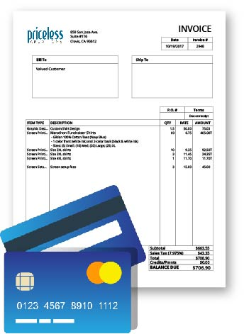 Pay Priceless Kreations Invoice Online